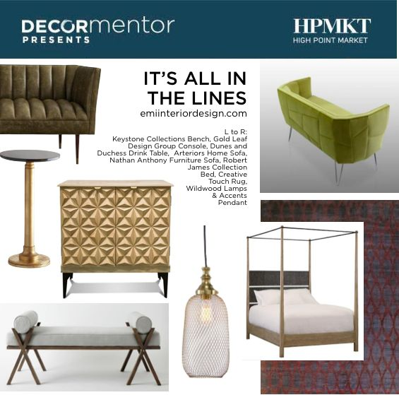 Interior Designer Erica Islas brings a brings a well established decoration and construction crew to the table for her clients. She is based in Los Angeles. Small but mighty with tons of experience! See here the new home furnishings she curated for High Point Market | The World's Home for Home Furnishings showcasing what will be new this Fall. ‪#‎HPmkt‬
