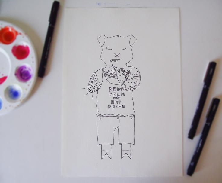 Keep Calm and Eat BACON! By Debora Nunes
