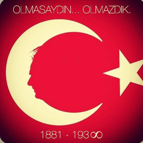 TURKISH FLAG WITH ATATÜRK SILHOUETTE