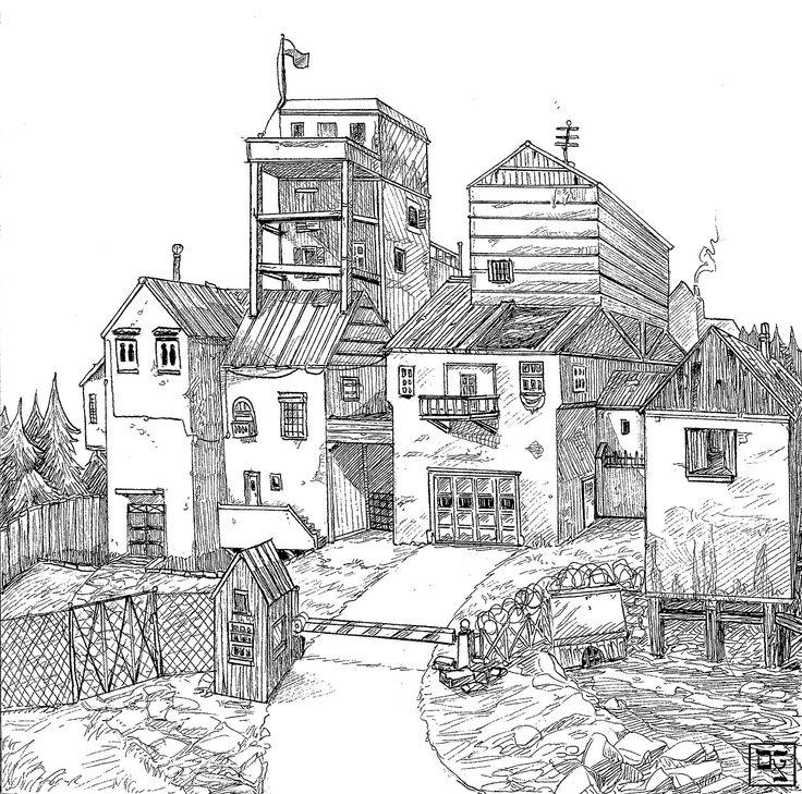 Dylan Rohn draws things. Like this poor man's castle. #inktober