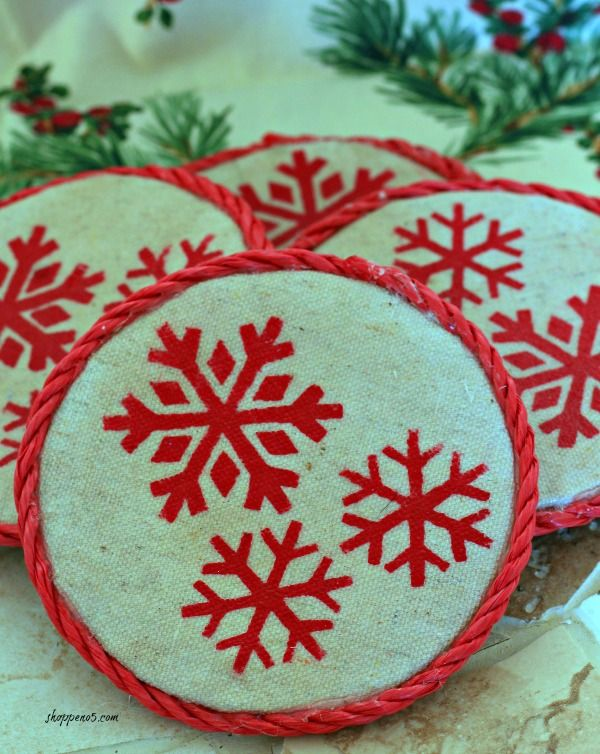 How To Make Christmas Coasters For A Special Gift