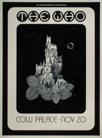The Who Poster Cow Palace (San Francisco, CA) Nov 20, 1973