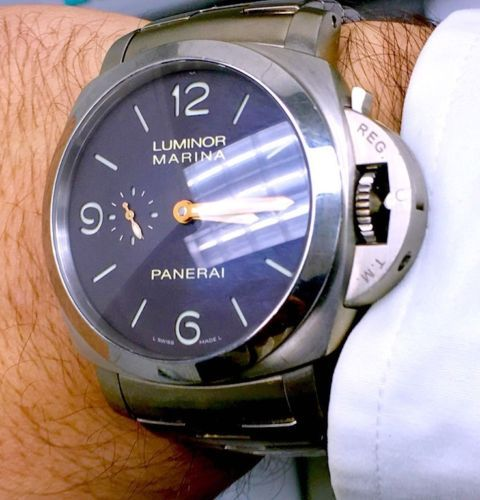 PANERAI PAM 352 LUMINOR MARINA 1950 3 Days Automatic Titanium Limited of 500pcs!