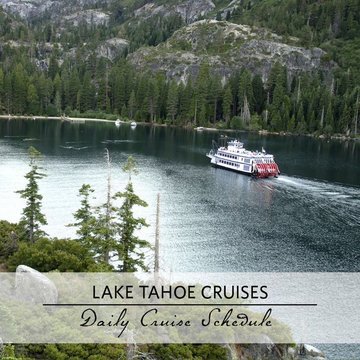 See Lake #Tahoe and Emerald Bay from the MS Dixie II or the Tahoe Queen. #bucketlist