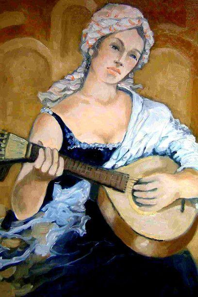 José Augusto Costa Araújo, *Mulher tocando guitarra de fado*