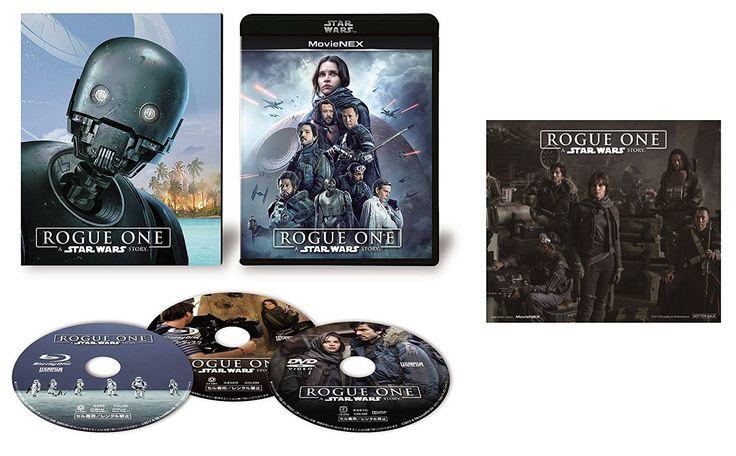 Amazon   ローグ・ワン/スター・ウォーズ・ストーリー MovieNEX(初回限定版) [ブルーレイ+DVD+デジタルコピー(クラウド対応)+MovieNEXワールド] [Blu-ray](オリジナルステッカー付)   映画