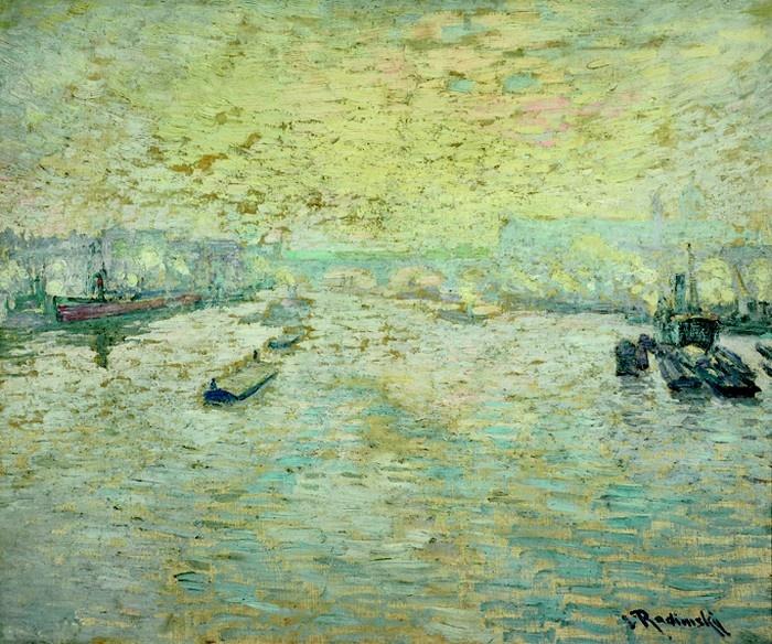 Václav Radimský; Mlha nad Londýnem, (před 1912)