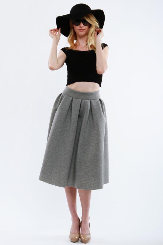 Solid full pleated skirt. S-24711