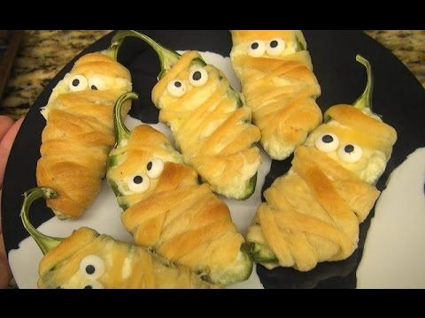 ASMR: Halloweeño Jalapeño Poppers | Halloween Candy Bark | Recipes | Eat...