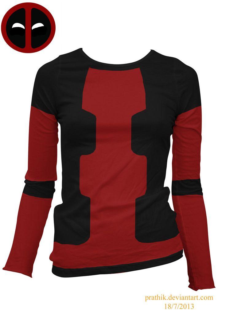 Lady Deadpool Shirt by prathik