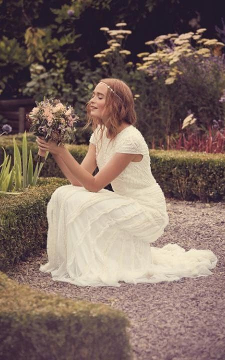 A £450 dress from the Nine by Savannah Miller bridal collection