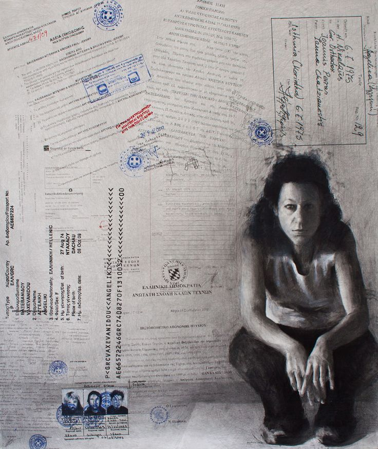 Angelika - 2010 - Pencil and charcoal on paper - 175x150cm