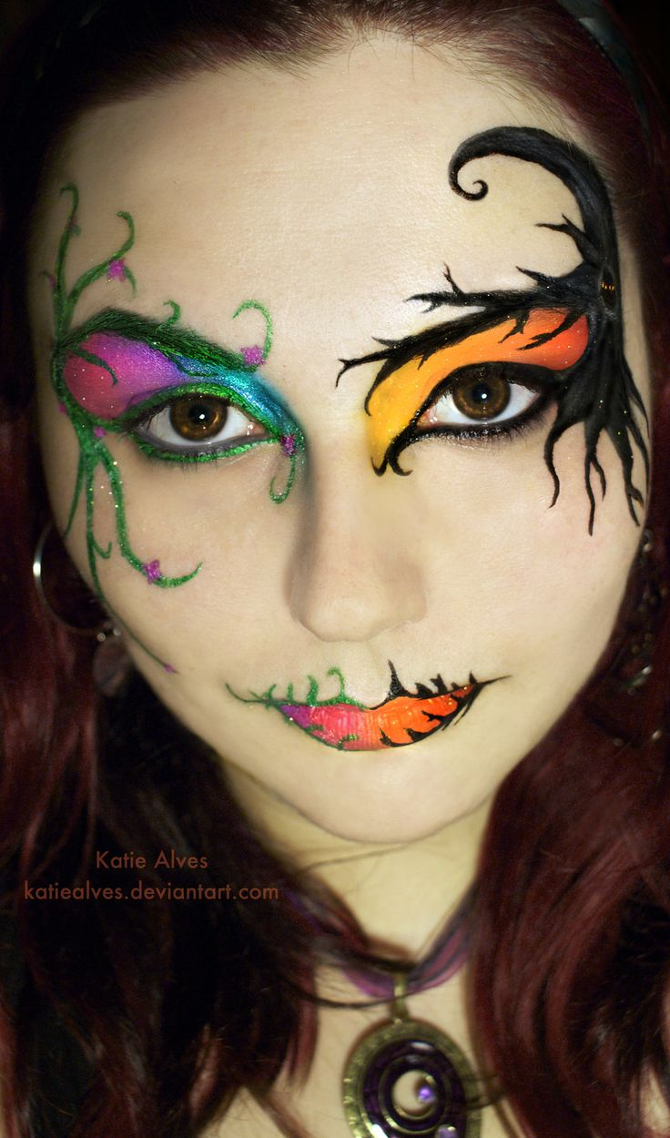katie alves a different kind of art amazing face painting halloween - Female Halloween Face Painting