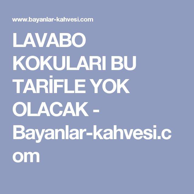 LAVABO KOKULARI BU TARİFLE YOK OLACAK - Bayanlar-kahvesi.com