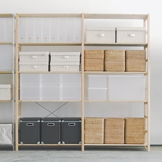 Ahh.  If only my storage spaces looked like this instead of random crazy piles.