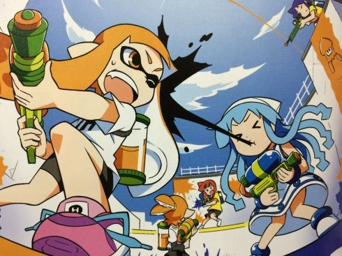 Splatoon x Squid Girl crossover artwork