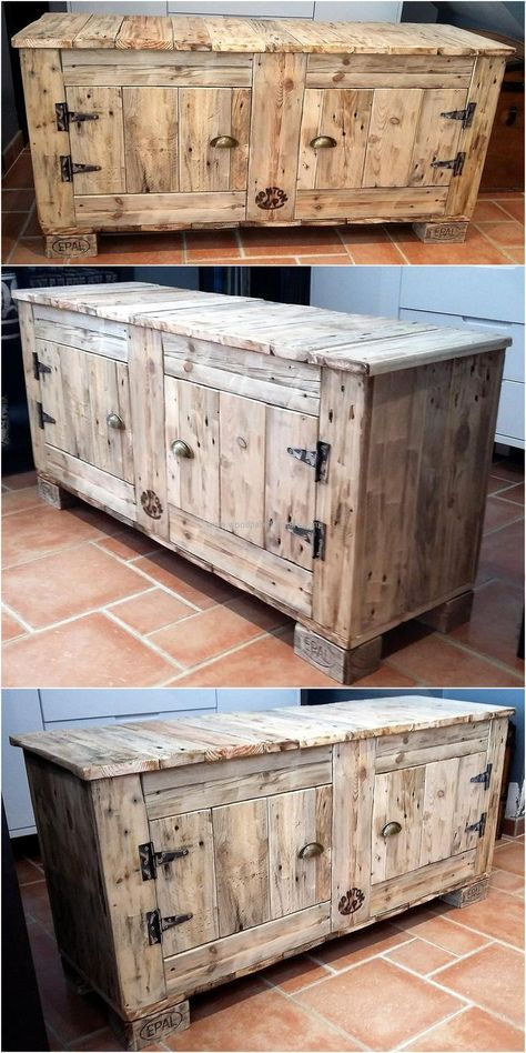 recycled pallets entryway table idea
