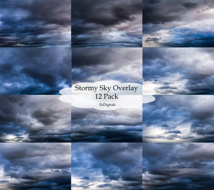 Stormy sky overlays, digital sky overlays, sky replacement, sky overlay, stormy…