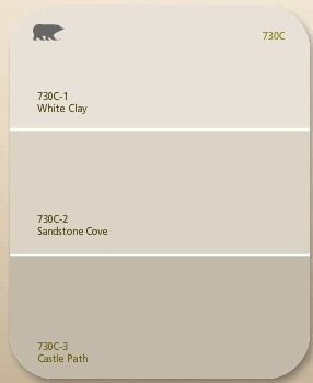 Behr 39 s white clay sandstone colors neutrals for Behr neutral paint colors