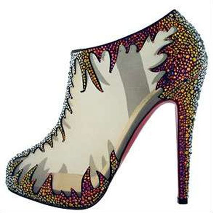 Louboutin flame boots: Hot Shoes, Fashion, Ankle Boots, Swarovski Crystals, High Heels, Hot Heels, Christian Louboutin, Louboutin Shoes, Christianlouboutin