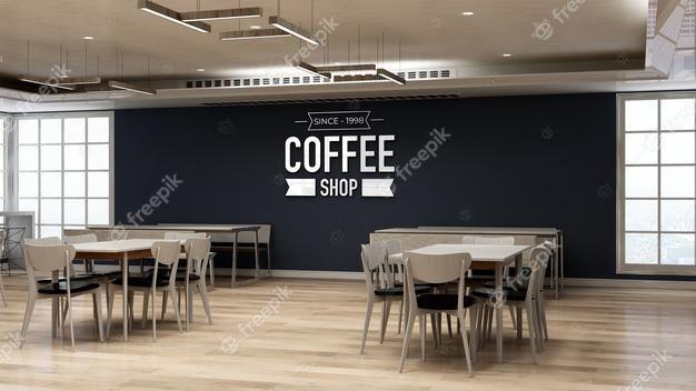 3d Wall Logo Mockup In Coffee Shop Resta Premium Psd Freepik Psd Logo Di 2021