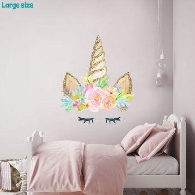 unicorn horn wall sticker unicorn wall stickers stickerscape rh pinterest com