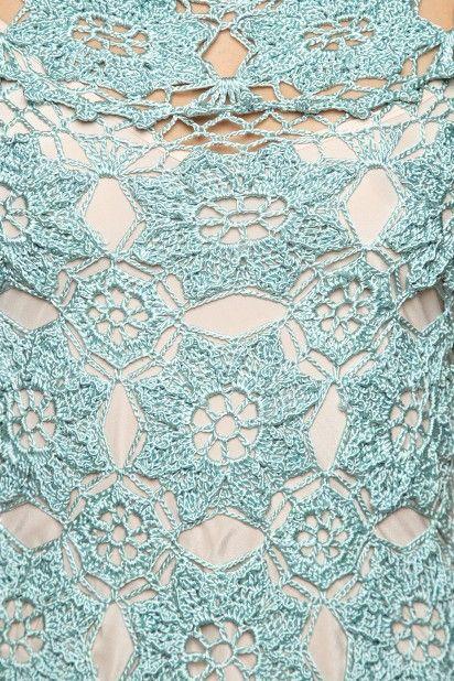 Vestido Crochet Mikonos Preto - Vanessa Montoro - vanessamontoro