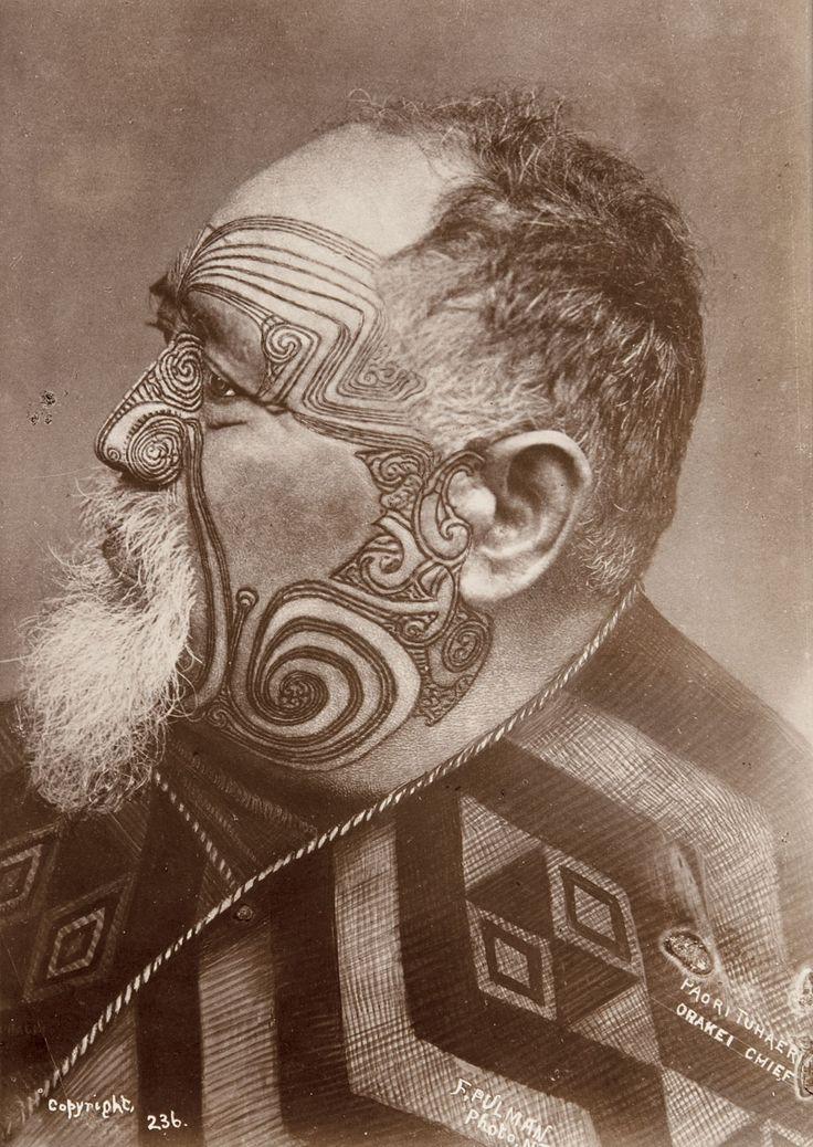 Portrait of Paora Tuhaere, Orakei Chief. By Frederick Pulman | Late 19th century