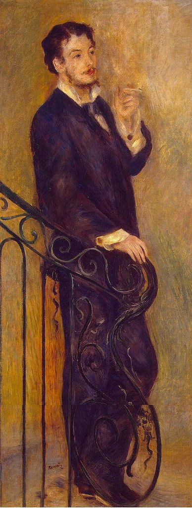 Man on a Stair, 1876. Pierre Auguste Renoir