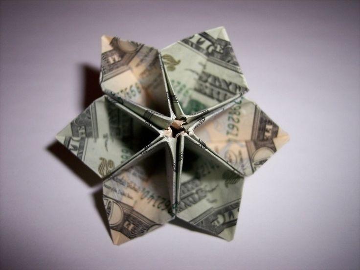 kreative Blume aus Geldschein falten und basteln