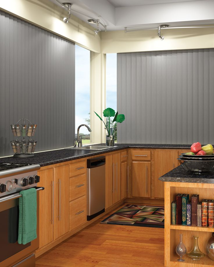 Custom Hunter Douglas Vertical Blinds For Your Dream Kitchen At Elite  Interiors.