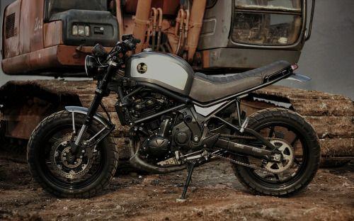"2014 Kawasaki Versys 650 Street Tracker ""The Temper"" by Studio Motor #motorcycles #streettracker #motos   caferacerpasion.com"
