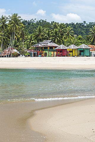 Sungai Pinang Beach and Rasta Beach Bungalows, near Padang in West Sumatra, Indonesia, Southeast Asia, Asia