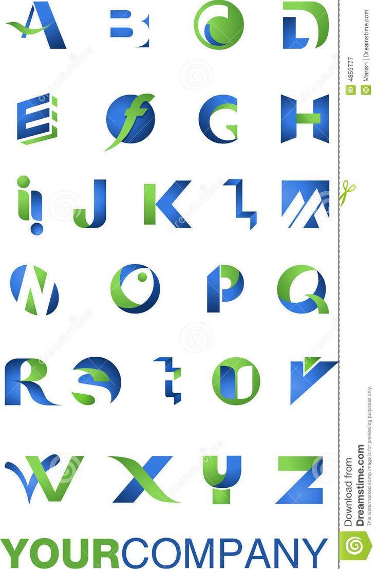 logo alphabet  A Alphabet Logo Design