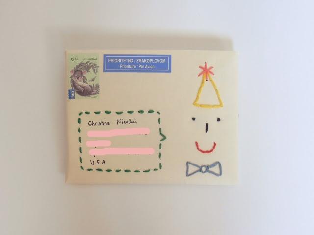 embroidered envelope via thimble