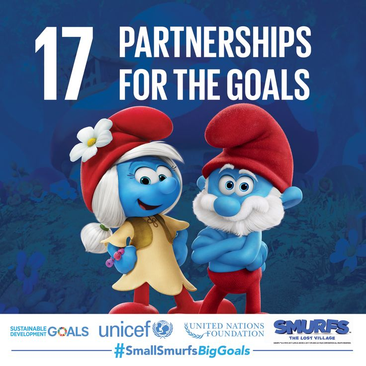 #TeamSmurfs works together to make Smurf Village a better place. Share your knowledge of the Sustainable Development Goals with others so we can achieve them together.  #SmallSmurfsBigGoals