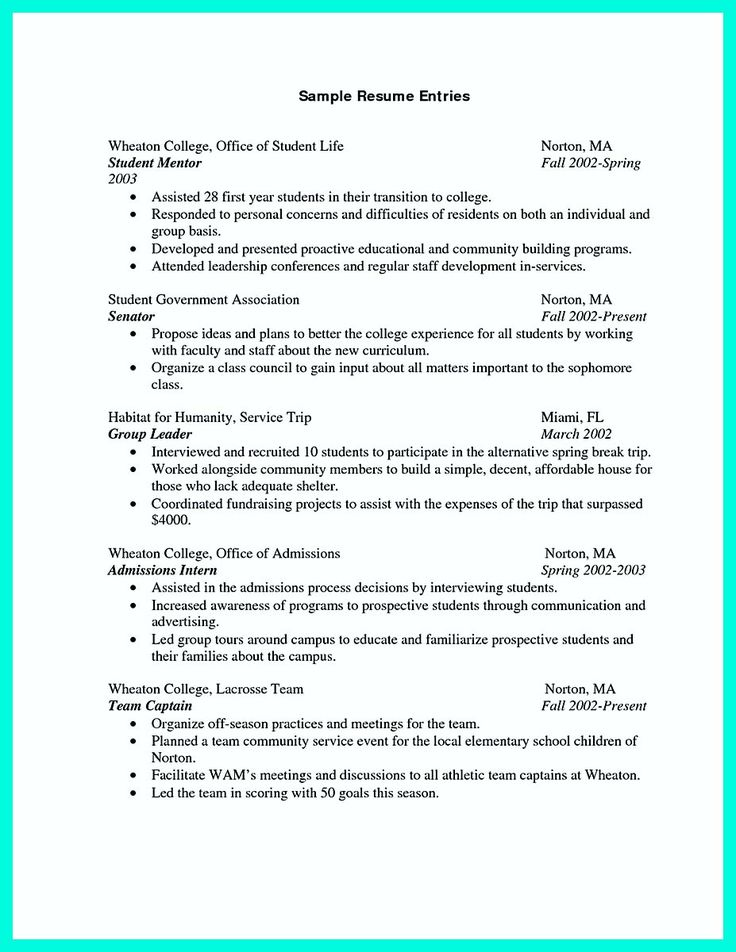 The 25+ best College resume ideas on Pinterest Resume skills - high school resume examples for college