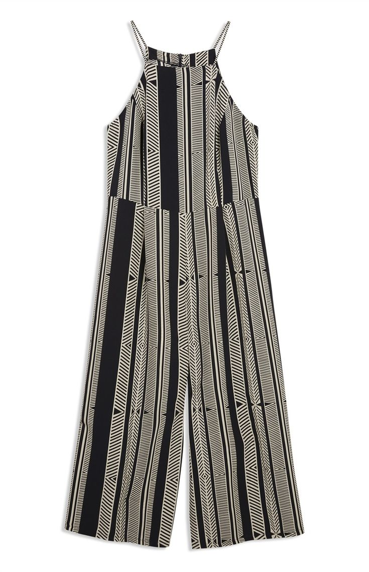 Primark london fashion week day in the life primark womenswear - Number 1 Black Stripe Culotte Jumpsuit By Primark Primark Online Shop
