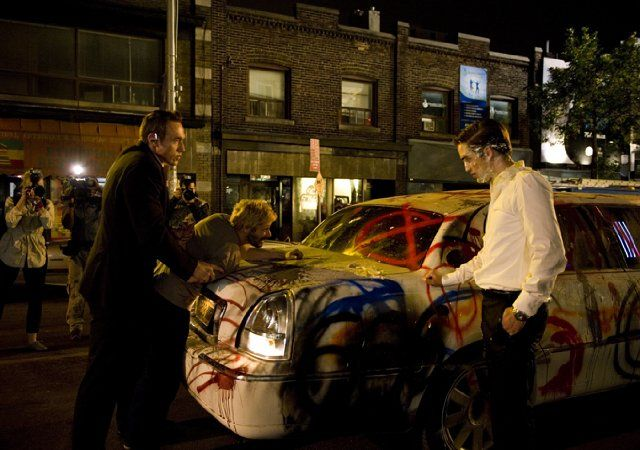 Mathieu Amalric and Robert Pattinson in Cosmopolis - on DVD and Blu-ray now!