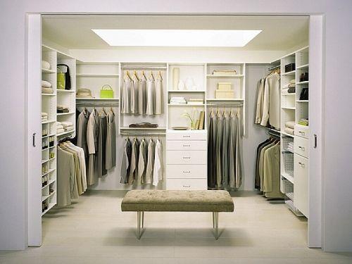 ordnungssystem für begehbaren kleiderschrank modernes system