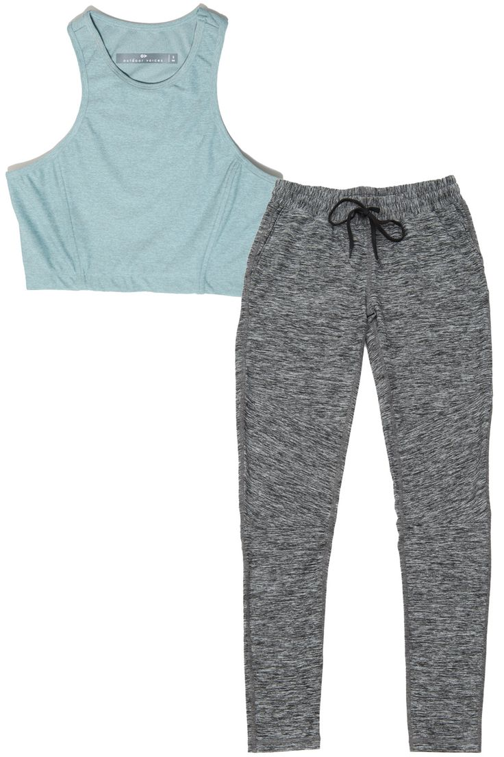 What it is: A minimalist, ultracomfy line of workout basics in non-basic colors and flattering fits, like crop tops that only show off the best part of your stomach and pants that hit the sweet spot between sweats and leggings. Who it's for: The woman who is active for the sake of being active—not for a thigh gap or six-pack—and can go from hiking to yoga to boxing to at-home videos.  Outdoor Voices Athena Crop, $50; Running Sweats, $95; outdoorvoices.com.   - HarpersBAZAAR.com