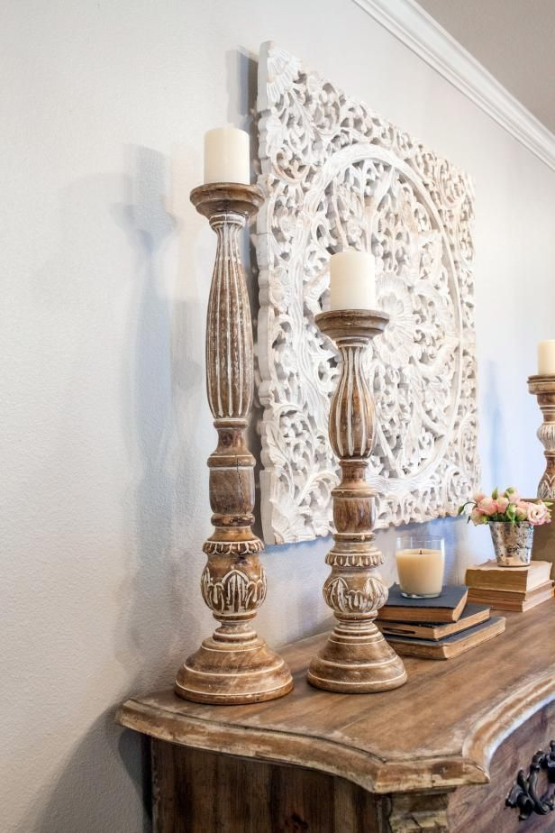 fixer upper house interior photos | ... fixer upper tall candle sticks decorate living room as seen on fixer
