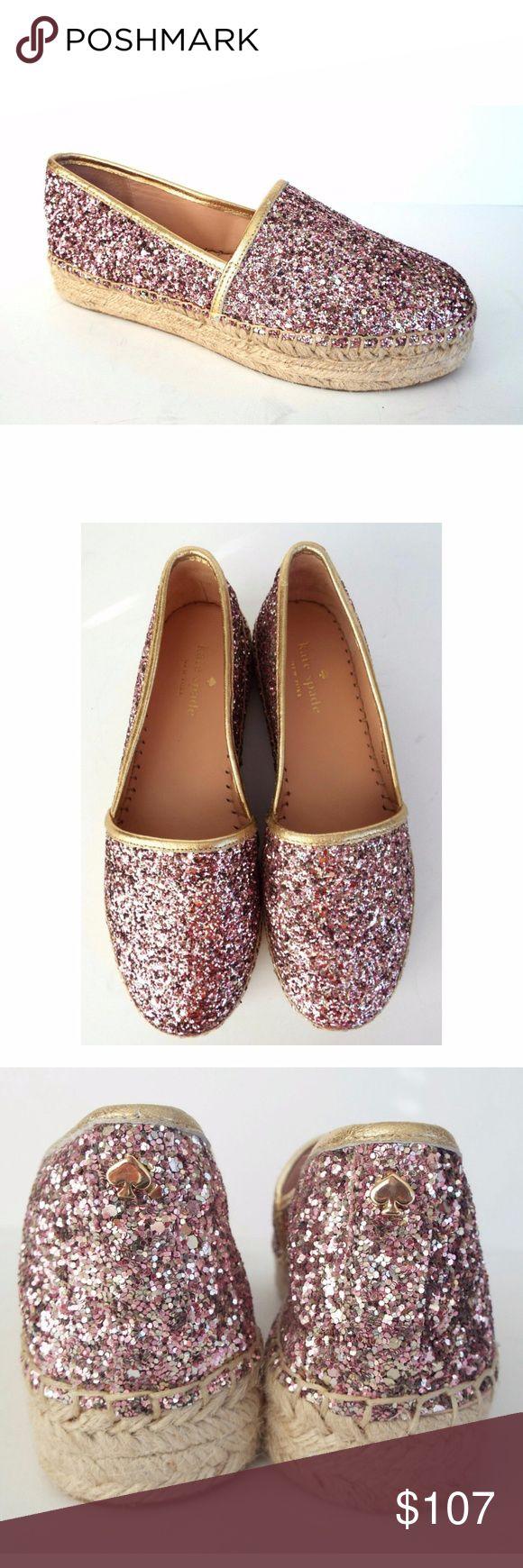 New KATE SPADE Size 7.5 LINDS Glitter Espadrille KATE SPADE 'Linds too rose' Pink/Purple Glitter Espadrilles Size 7 1/2 Medium New with Kate Spade box. kate spade Shoes Espadrilles