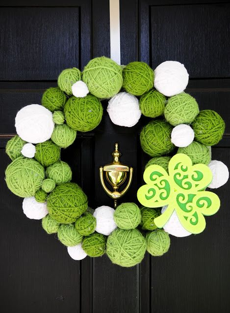 DIY Wreath #St. Patrick's Day #wreath