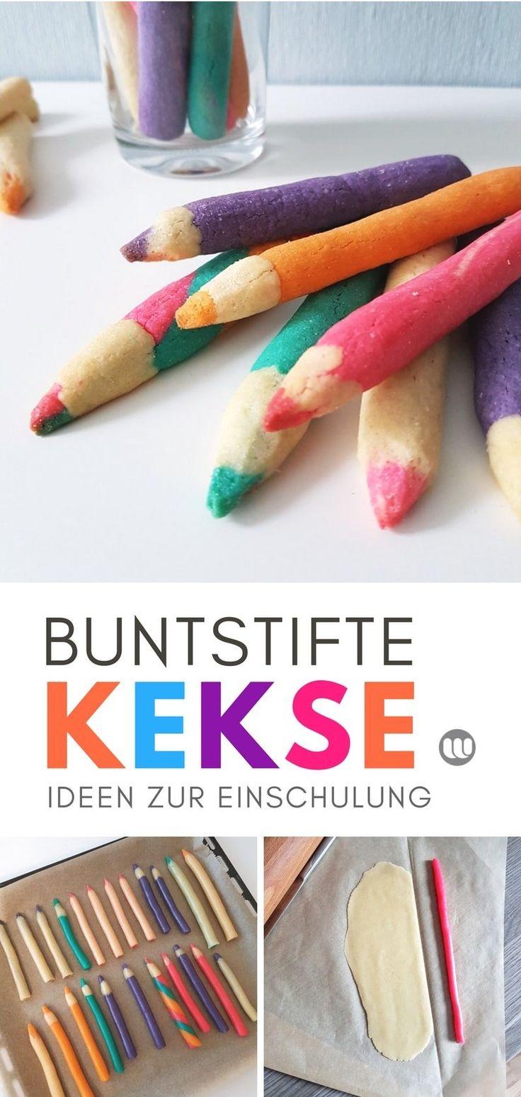 [Rezept] Buntstift-Kekse zur Einschulung: Essbare Keksstifte