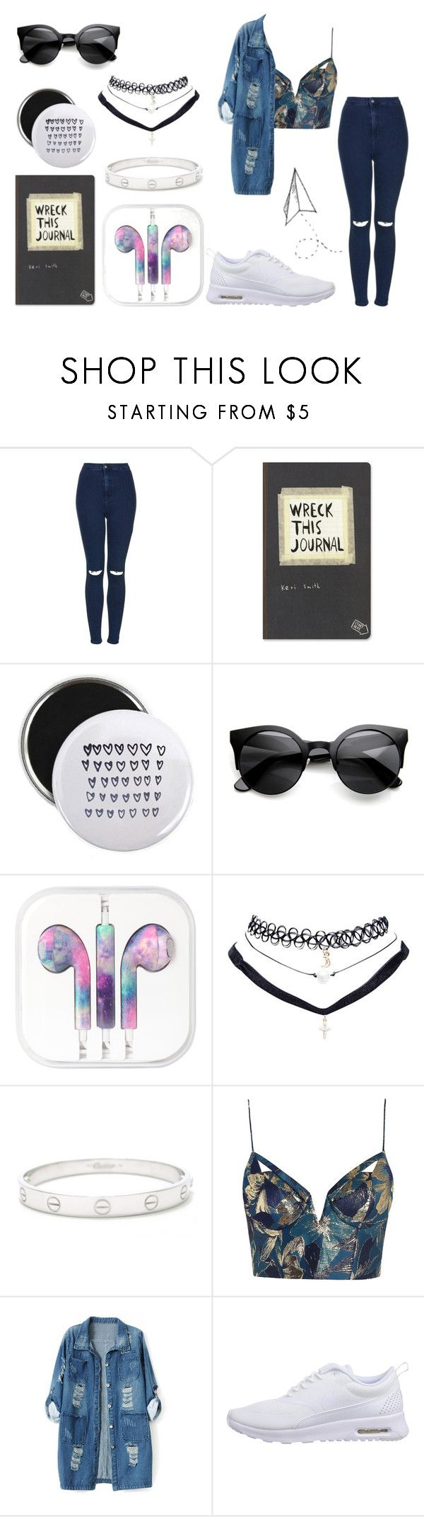 """See the stars before they fall"" by anajeps ❤ liked on Polyvore featuring Topshop, Wet Seal, Cartier, Zimmermann, Chicnova Fashion, NIKE, tumblr, stars, outfitoftheday and chill"