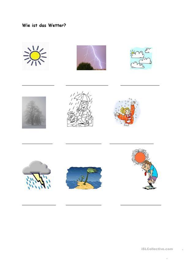 Wie ist das Wetter? | Bildung | Pinterest | Wetter, Wetter und Klima ...