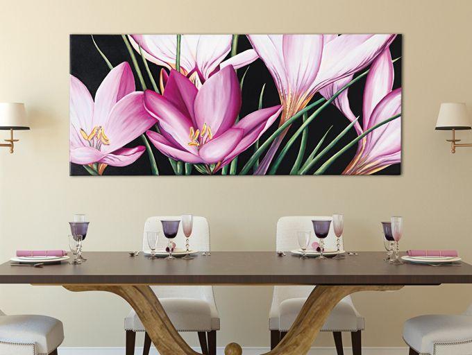 #PINTDECOR #quadro #crocus #design #arredo #arte #madeinitaly #flowers #tela #collezione2016 #pink #fiori #floreale #primavera