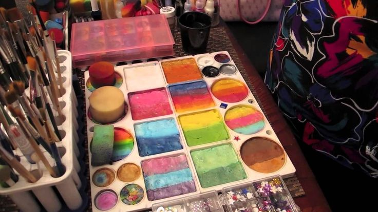 Face Painting Set-Up by Susan Billings