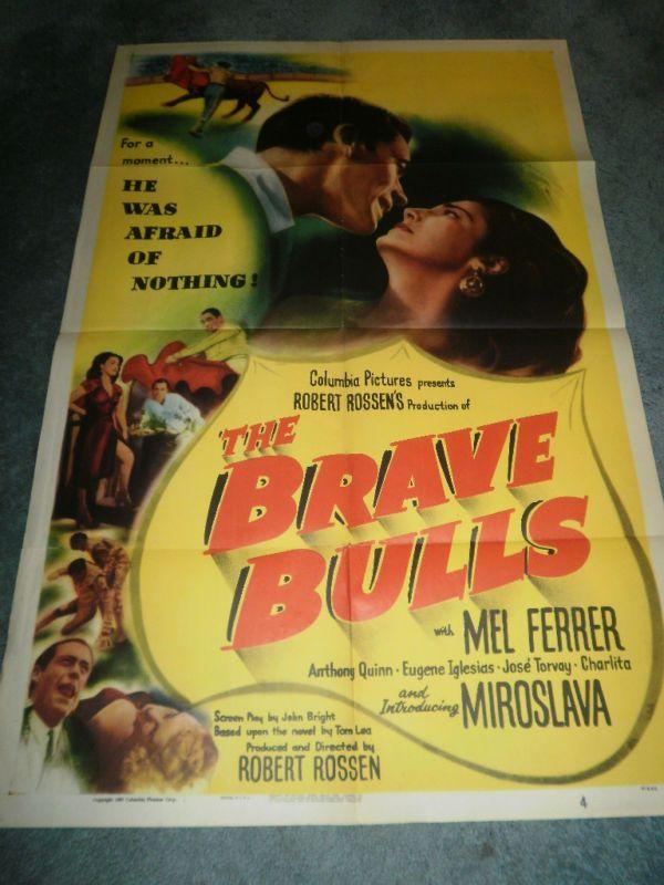 THE BRAVE BULLS(1951)MEL FERRER ORIGINAL 1SHEET POSTER